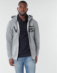 Clothing Men Sweaters Vans VANS CLASSIC ZIP HOODIE Cement / Heather /  black