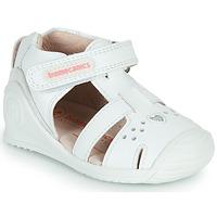 Shoes Girl Sandals Biomecanics 212104 White / Silver