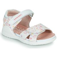 Shoes Girl Sandals Biomecanics 212165 White / Multicolour