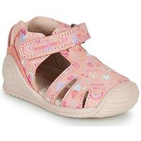Shoes Girl Sandals Biomecanics 212107 Pink