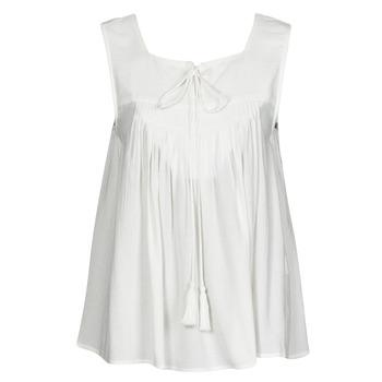 Clothing Women Tops / Sleeveless T-shirts See U Soon 21111205B White