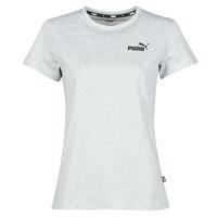 Clothing Women Short-sleeved t-shirts Puma ESS LOGO TEE Grey / Mottled