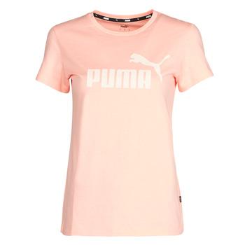 Clothing Women Short-sleeved t-shirts Puma ESS Logo Tee (s) Apricot