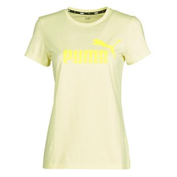 Clothing Women Short-sleeved t-shirts Puma ESS Logo Tee (s) Yellow