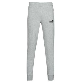 Clothing Men Tracksuit bottoms Puma ESS LOGO SLIM PANT LOGO FL CL Grey