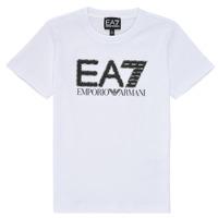 Clothing Boy Short-sleeved t-shirts Emporio Armani EA7 3KBT53-BJ02Z-1100 White