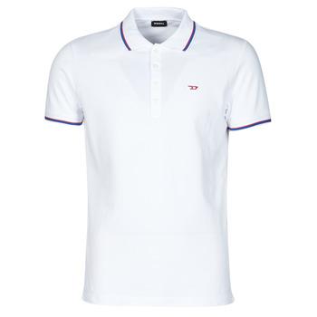 Clothing Men Short-sleeved polo shirts Diesel 00SW7C-0MXZA-100 White