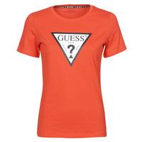 Clothing Women Short-sleeved t-shirts Guess SS CN ORIGINAL TEE Red