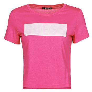 Clothing Women Short-sleeved t-shirts Guess SS CN ADRIA TEE Fuschia