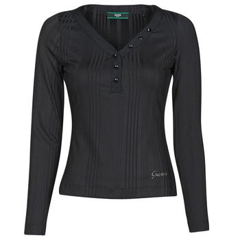 Clothing Women Long sleeved tee-shirts Guess LS URSULA TOP Black