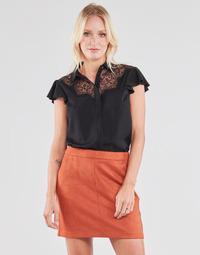 Clothing Women Tops / Blouses Guess SS RENATA TOP Black