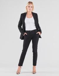 Clothing Women 5-pocket trousers Guess ZOE PANTS Black