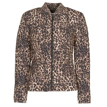 Clothing Women Duffel coats Guess VERA JACKET Leopard