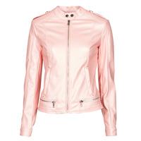 Clothing Women Leather jackets / Imitation leather Guess NEW TAMMY JACKET Pink