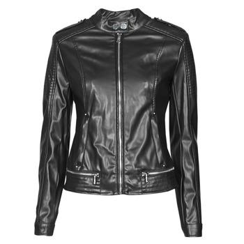 Clothing Women Leather jackets / Imitation leather Guess NEW TAMMY JACKET Black