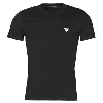 Clothing Men Short-sleeved t-shirts Guess CN SS CORE TEE Black