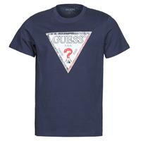 Clothing Men Short-sleeved t-shirts Guess TRIESLEY CN SS TEE Marine