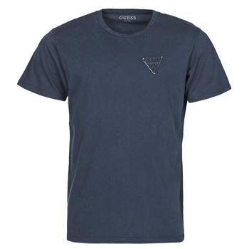 Clothing Men Short-sleeved t-shirts Guess LOGO ORGANIC BASIC CN SS TEE Marine