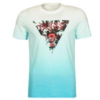 Clothing Men Short-sleeved t-shirts Guess PALM BEACH CN SS TEE Blue