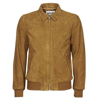 Clothing Men Leather jackets / Imitation leather Schott LC YALES S Cognac