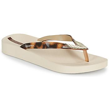 Shoes Women Flip flops Ipanema IPANEMA ELEGANCE FEM Beige / Gold