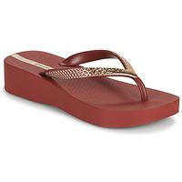 Shoes Women Flip flops Ipanema IPANEMA MESH VI PLAT FEM Bordeaux