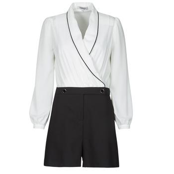 Clothing Women Jumpsuits / Dungarees Morgan SHAMIE Black / White