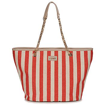 Bags Women Shopping Bags / Baskets Liu Jo SICURA XL TOTE Beige / Red