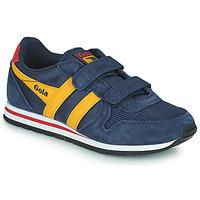 Shoes Children Low top trainers Gola DAYTONA VELCRO Marine / Yellow