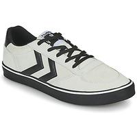 Shoes Men Low top trainers Hummel STADIL 3.0 SUEDE Beige / Black