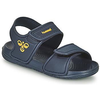Shoes Children Outdoor sandals Hummel PLAYA JR Blue