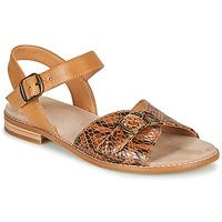 Shoes Women Sandals Karston XABERO Camel / Python
