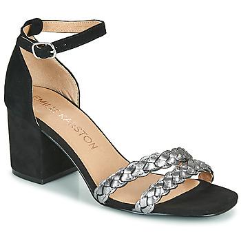 Shoes Women Sandals Karston POMELOS Black / Silver