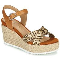 Shoes Women Sandals Karston LABON Brown / Gold
