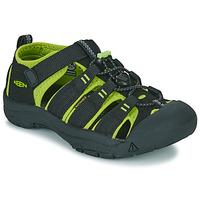Shoes Boy Outdoor sandals Keen NEWPORT H2 Black / Green