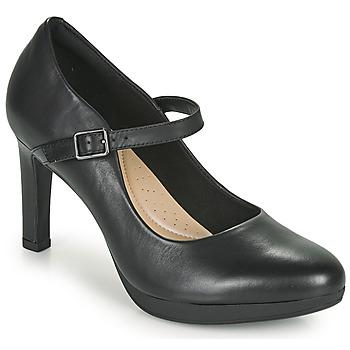 Shoes Women Heels Clarks AMBYR SHINE Black