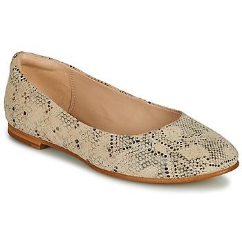 Shoes Women Flat shoes Clarks GRACE PIPER Beige / Python