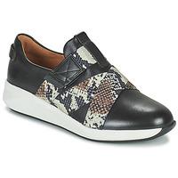 Shoes Women Low top trainers Clarks UN RIO STRAP Black