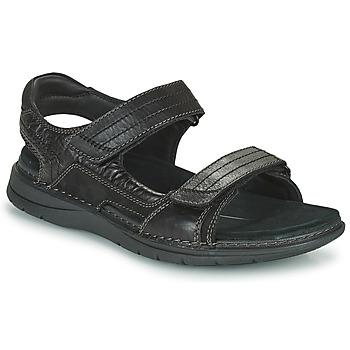 Shoes Men Outdoor sandals Clarks NATURE TREK Black