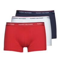 Underwear Men Boxer shorts Tommy Hilfiger TRUNK X3 White / Red / Marine