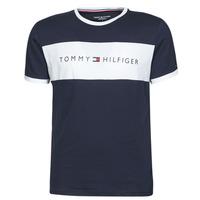 Clothing Men Short-sleeved t-shirts Tommy Hilfiger CN SS TEE LOGO FLAG Marine / White