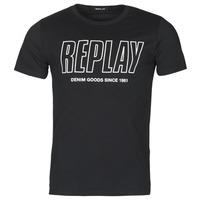 Clothing Men Short-sleeved t-shirts Replay M3395-2660 Black