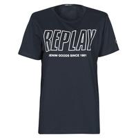 Clothing Men Short-sleeved t-shirts Replay M3395-2660 Marine