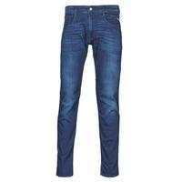 Clothing Men Slim jeans Replay ANBASS Pants Blue / Medium