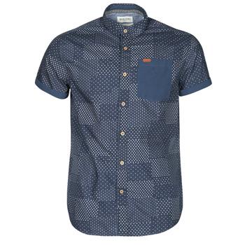 Clothing Men Short-sleeved shirts Deeluxe ETHNIC Marine