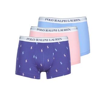 Underwear Men Boxer shorts Polo Ralph Lauren CLASSIC TRUNK X3 Pink / Blue / Marine