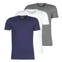 Clothing Men Short-sleeved t-shirts Polo Ralph Lauren SS CREW NECK X3 Marine / Grey / White