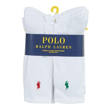 Shoe accessories Men Sports socks Polo Ralph Lauren ASX110 6 PACK COTTON White