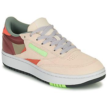 Shoes Women Low top trainers Reebok Classic CLUB C DOUBLE Beige / Bordeau