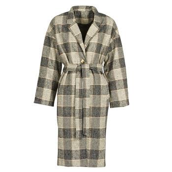 Clothing Women Coats Betty London NIOULOOK Black / Beige